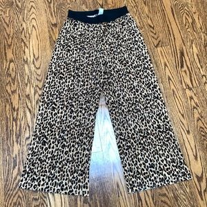 H&M Leopard Print Pleated Crop